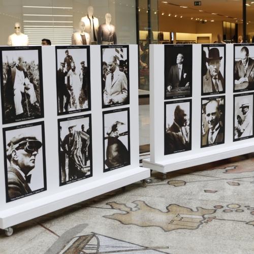 Hanri Benazus 'Çağdaş Atatürk Fotoğrafları' Panora AVM'de Sergilendi